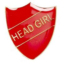 ShieldBadge Head Girl Red</br>SB018R